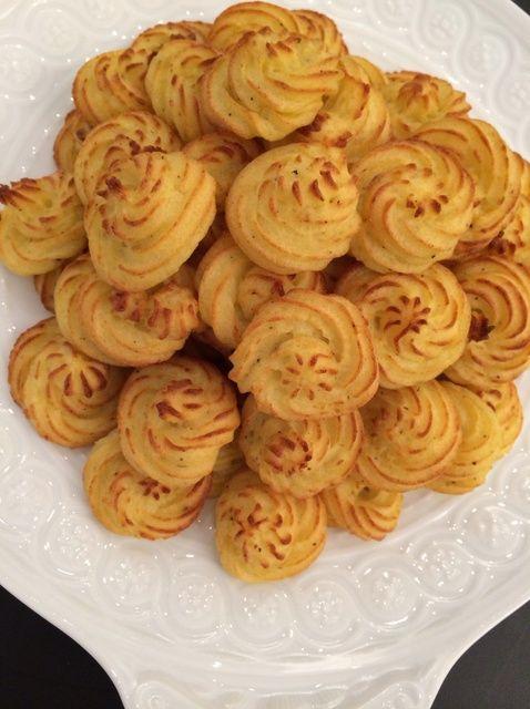 Cómo preparar Fantasía Patatas (Pommes duquesa) Receta