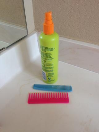 Fijar el cabello durante el día