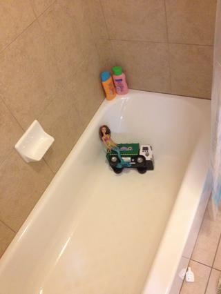Luego tomar un baño ...