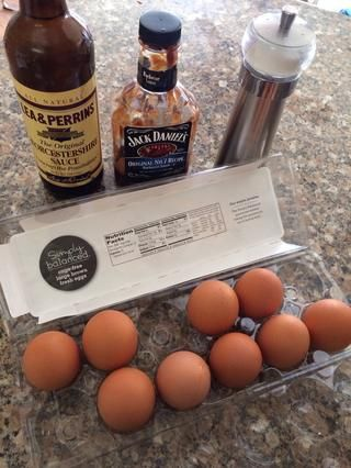 Coge los ingredientes (no se muestra ya que se me olvidó y didn't have... Garlic powder or garlic salt)