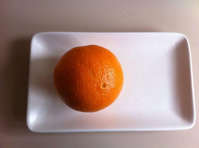 Tome una naranja.