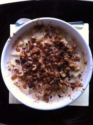 Añadir las nueces fritas y decorar con canela. Buon appetito!
