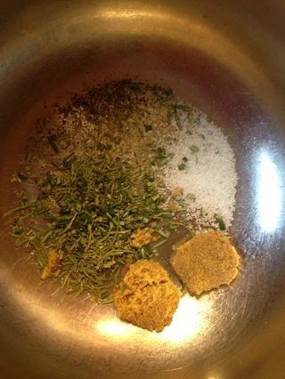 Mezcle los ingredientes secos.