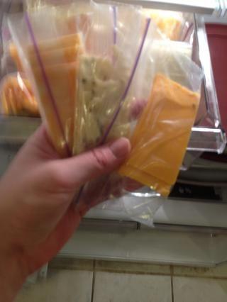 Hacer quesos merienda, los niños tienen éstos con manzanas