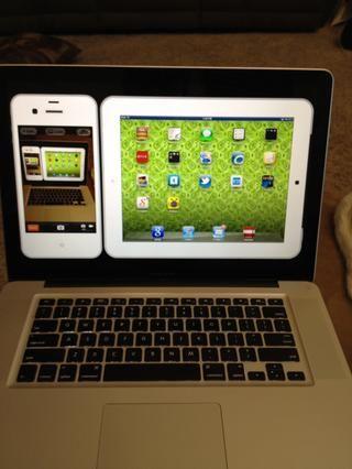 Estaba reflexionando mi iPad y mi iPhone como yo estaba tomando una foto para este Snapguide!