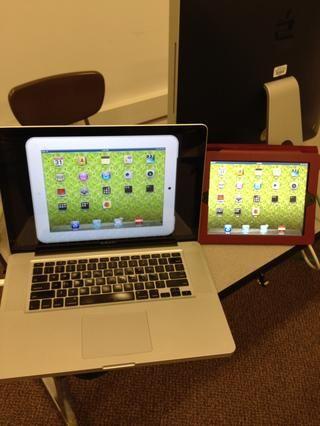 Esta es la vista en modo de pantalla completa. Usted puede incluso hacer su iPad negro blanco o viceversa!