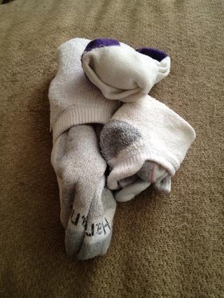 Así que vuelta a sus calcetines doblados normales ......