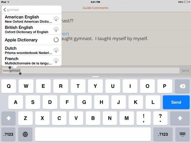 Haga clic en el diccionario de Apple para descargar :)