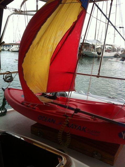 Cómo poner una vela en una Junta Yak Kayak
