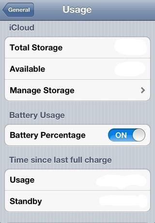 5) Ahora se puede decir fácilmente la cantidad de vida de la batería que te queda!