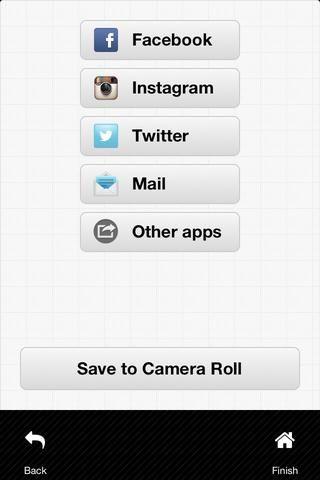 Ahora usted puede guardar la imagen en Camera Roll, y compartir con sus amigos para conseguir algunos wows y gustos.