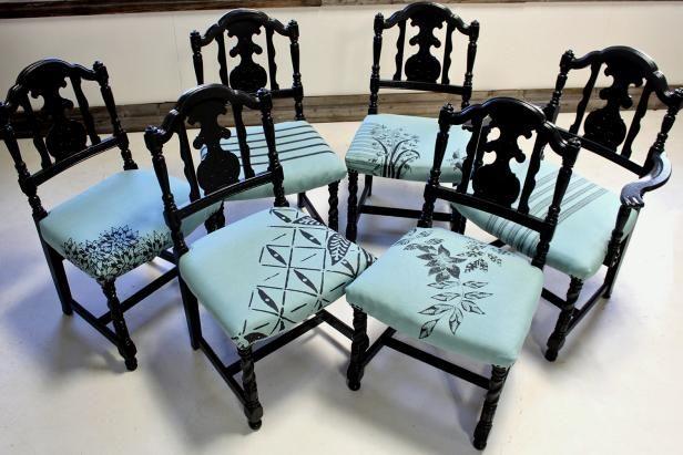 Fotografía - Cómo re-cojín viejas sillas de comedor