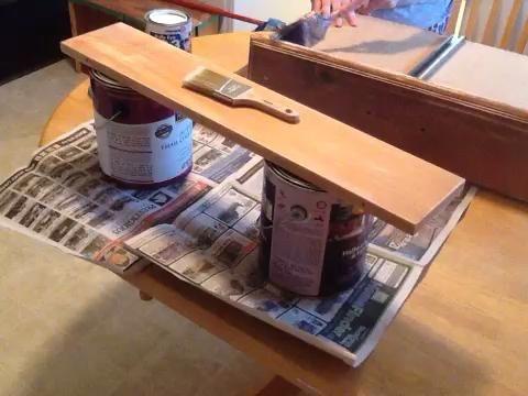 Aquí estoy pintando una capa
