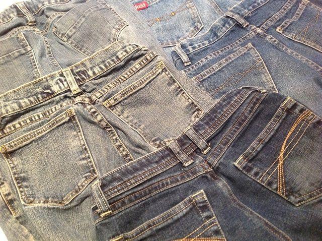 Cómo volver a Uso bolsillos traseros desde jeans viejos Denim