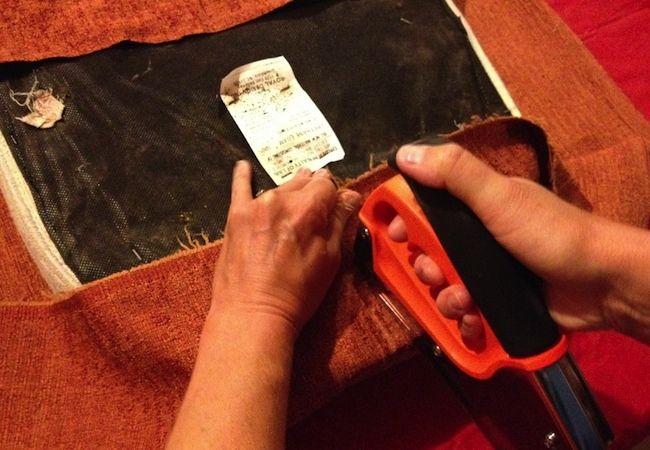 Cómo recuperar una silla - Grapado