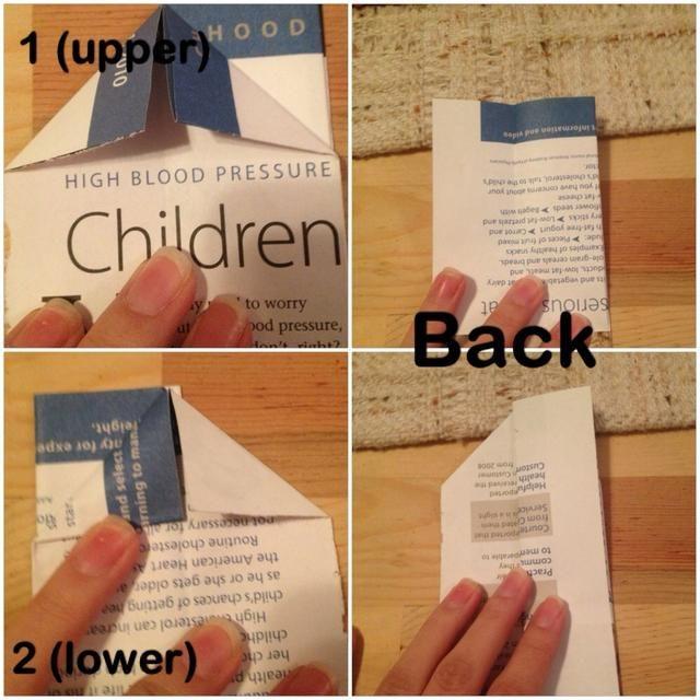 Fold como se ve en la parte superior del menor, así como el otro lado,.