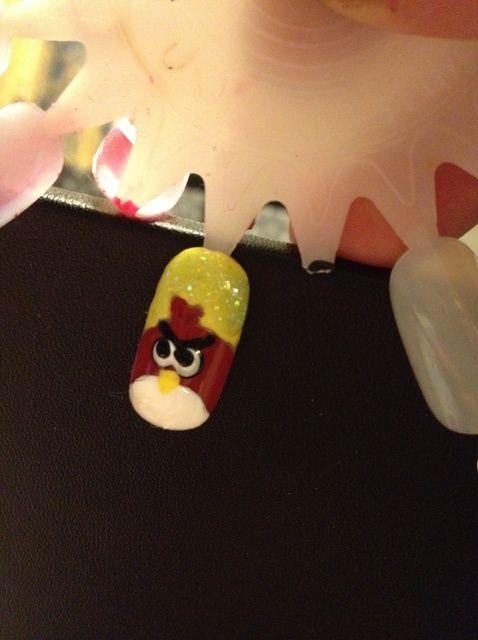 Fotografía - Cómo rojas Angry Bird Nails