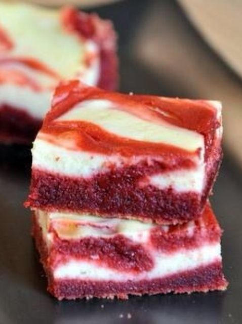 Cómo Red Velvet Cream Cheese Brownies Receta