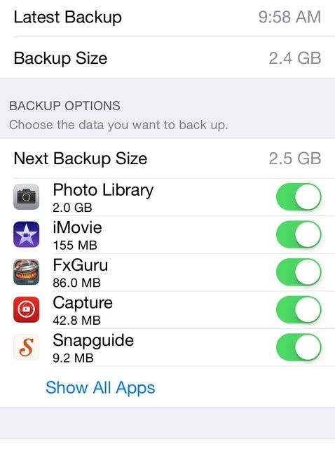 Cómo reducir el tamaño de iCloud Storage