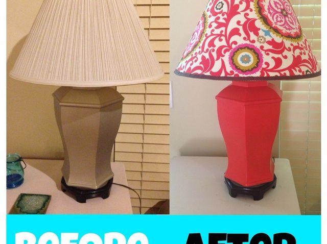 Fotografía - Cómo Refinish una pantalla de lámpara y lámpara.