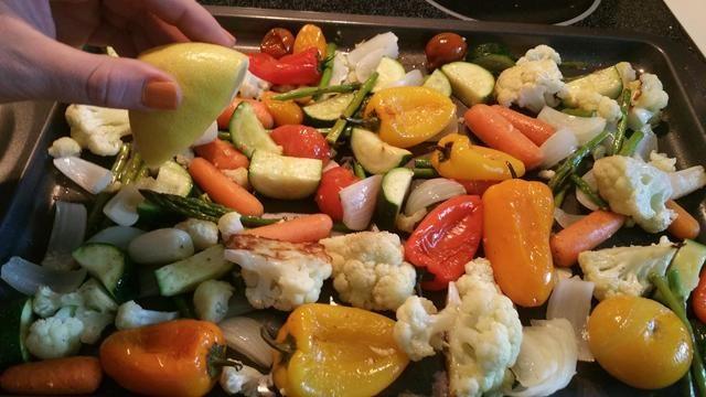 Me puse un poco luchadora y apreté un poco de limón en mis verduras en esta ocasión!