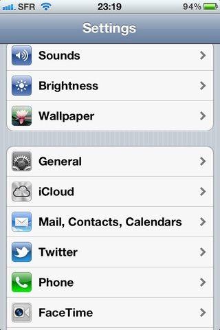 Toque en iCloud