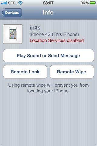 Aquí usted será capaz de bloqueo remoto o el borrado remoto Tenga mucho cuidado AS borrado remoto borrará TODO en el dispositivo seleccionado