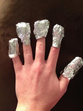 Continúe hasta que se realicen los cinco dedos.