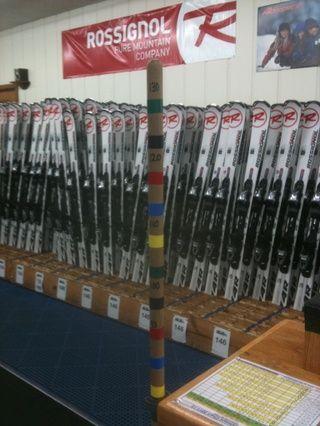 La mayoría de las pistas de esquí de mantener el equipo actualizado por lo que no tendrá una excusa