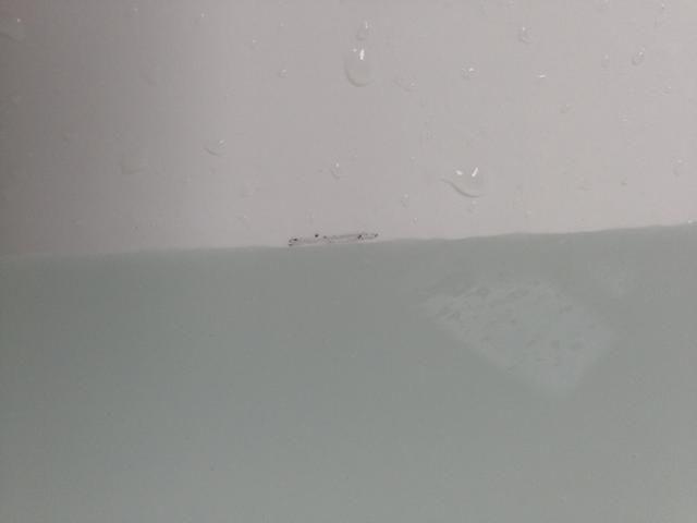 Ponga una marca en su tina para asegurarse de que el nivel del agua sigue siendo el mismo durante más de una hora. Puede utilizar un marcador de borrado en seco, lápiz o algunas personas les gusta usar cinta.