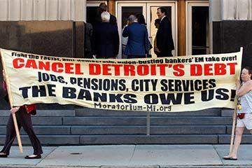 manifestantes en detroit