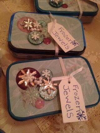.... atadas en un divertido etiqueta de regalo, y que estaban listos para ir!
