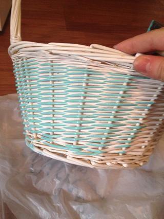 Ahora seco cepillar su cesta. Esto realmente pone de manifiesto la textura!