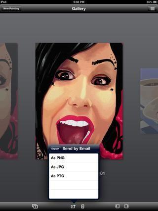 Usted puede optar por enviar como PNG, JPEG o archivo de ArtRage. Normalmente me elegir JPEG, ya que es estándar en la mayoría de los casos.