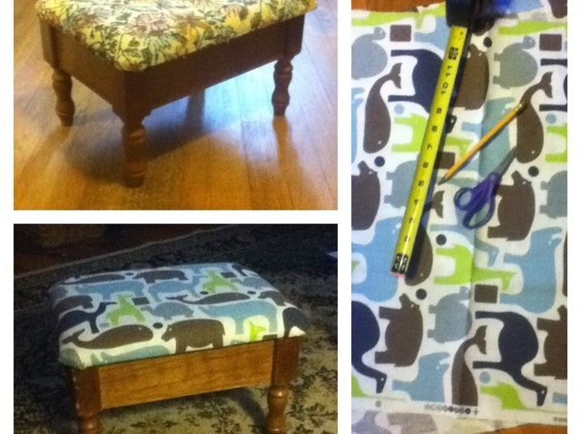 Cómo tapizar un taburete
