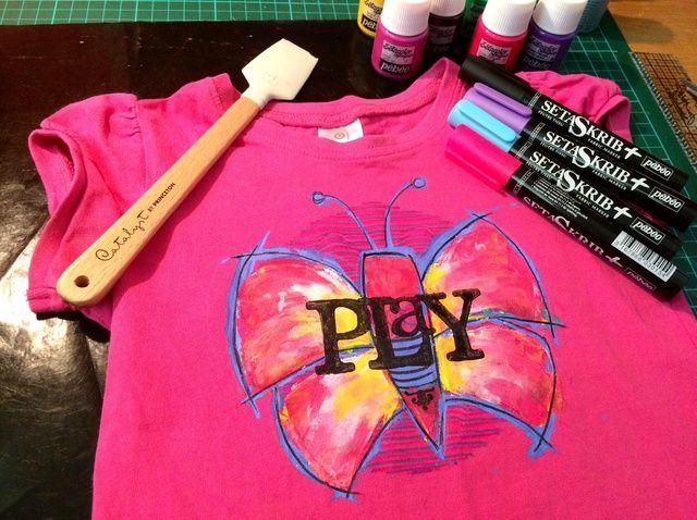 Fotografía - Cómo Renovar Llanura camisetas Usando PEBEO Tela Pinturas