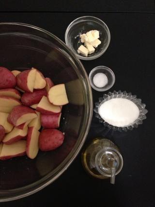 Mismo proceso para las patatas ... como para las coles de Bruselas