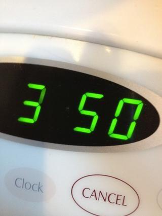 Precaliente el Evan a 350 ° F.