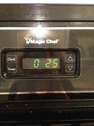 Ajuste del temporizador de 25 minutos.