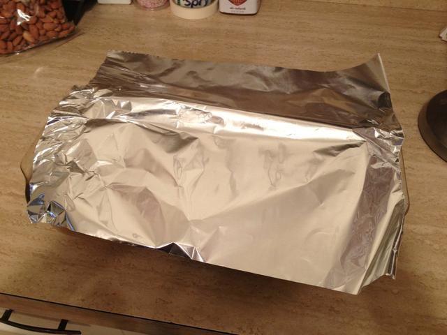 Carpa poco de papel en la parte superior de la sartén durante al menos 20 minutos. (Don't put back into oven)