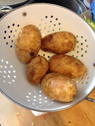 Patatas orgánicas !! ¡¡Lavarlos!!