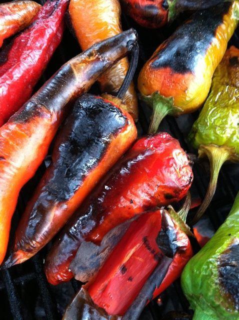 Cómo asar Chile Peppers Receta