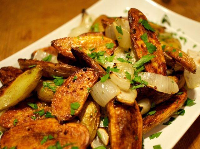 Cómo asar crujiente patatas del pececillo Receta
