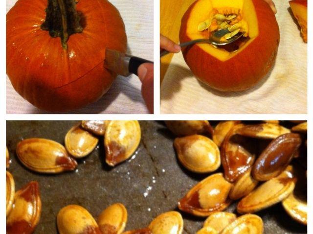 Cómo asar fresca calabaza Semillas Receta