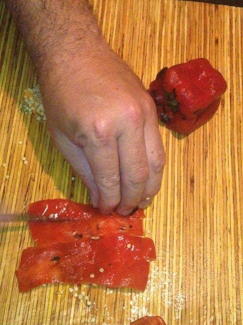 Cómo asar pimientos Receta