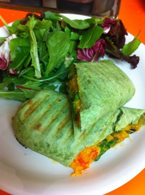 Cómo asado Wrap Vegetal Receta