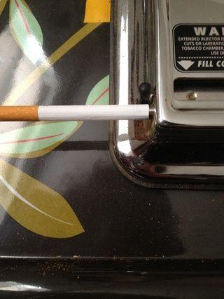 ¿Qué he de hacer para tener el tubo lleno de tabaco al final de la misma es insertar sólo a mitad de camino en la boquilla.
