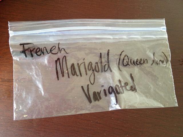 Etiquetar una pequeña bolsa de plástico o sobre con su variedad de planta para que sepa lo que las semillas que tiene el año que viene.