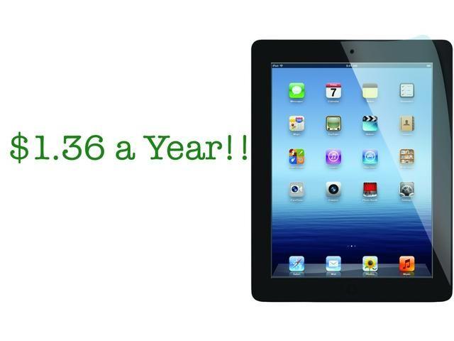 ¿Sabías el costo anual para charing su iPad se trata de $ 1,36? No así para una computadora de escritorio !! Y tiene toda la duración de la batería días, por lo que apenas tienen para cargarla!