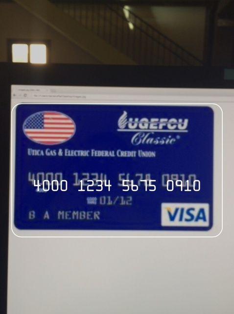 Cómo escanear una tarjeta de crédito en Mobile Safari